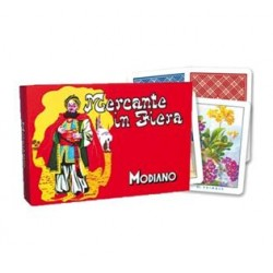 MODIANO CARTE DA GIOCO MERCANTE IN FIERA 250 pz 2 x 44cm. 6,3 X 8,8